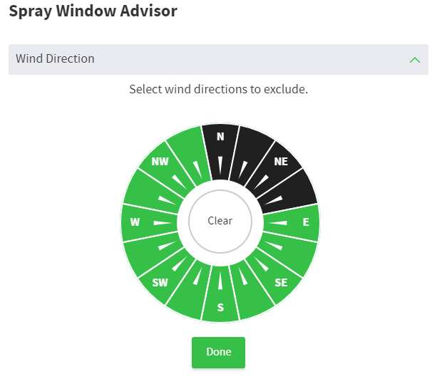 Spray Window Advisor