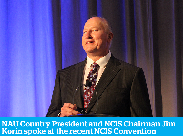NAU Country President and NCIS Chairman Jim Korin spoke at recent NCIS Convention  Katie Ferrier LaMere