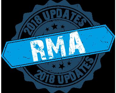 RMA 2018 Updates